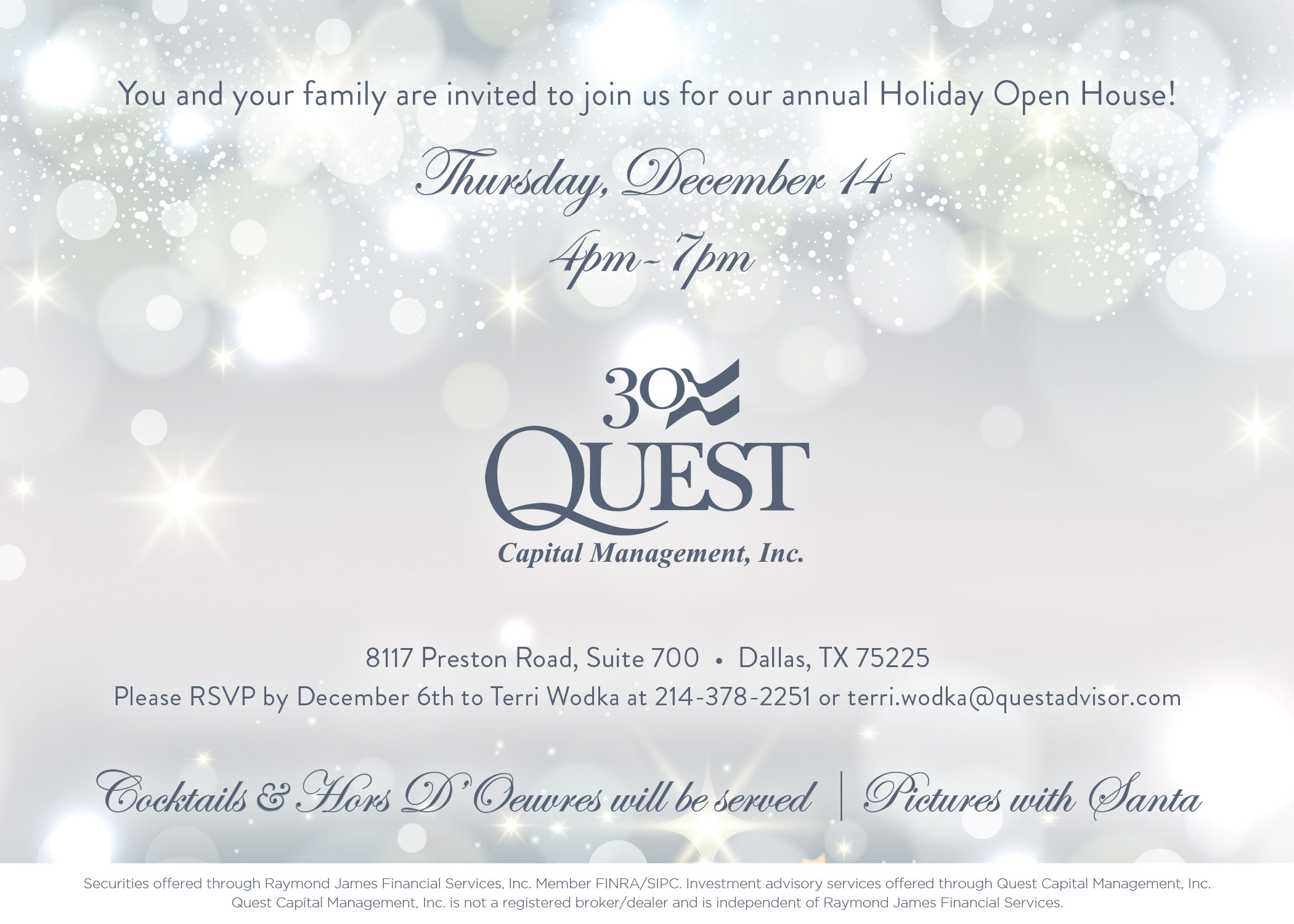 Holiday Open House Invite Website 2017
